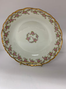"Limoges, Elite Works.  ""Bridal Wreath"".  Large Bowl- 9-3/4"""