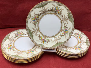 Chatham Green Ivory-S123, Bread and Butter Plates