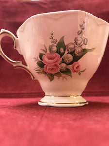 Royal Albert, Lily of the Valley And pink roses.