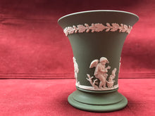 Load image into Gallery viewer, Wedgwood, England.  Posy Pot.  Sage Green, Four Seasons