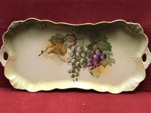 Chocolate Service, Bavaria, A.Koch, Green with Grapes