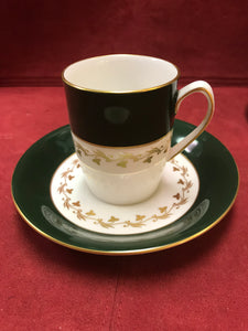 Spode, England. Coffee Service, Green Velvet, Pattern Y7869.