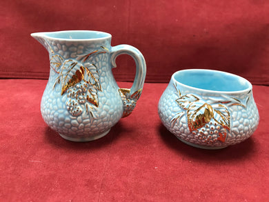 Wade, England, Creamer and Sugar, Golden Turquoise