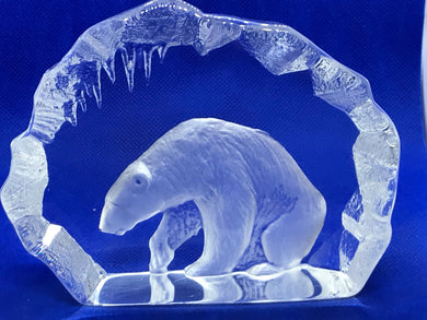 Art Glass, Sweden, Mats Jonasson, Polar Bear