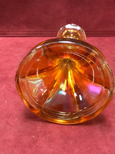 Load image into Gallery viewer, Candle Stick Holders, Carnival Glass, Amber, 6-1/2' high