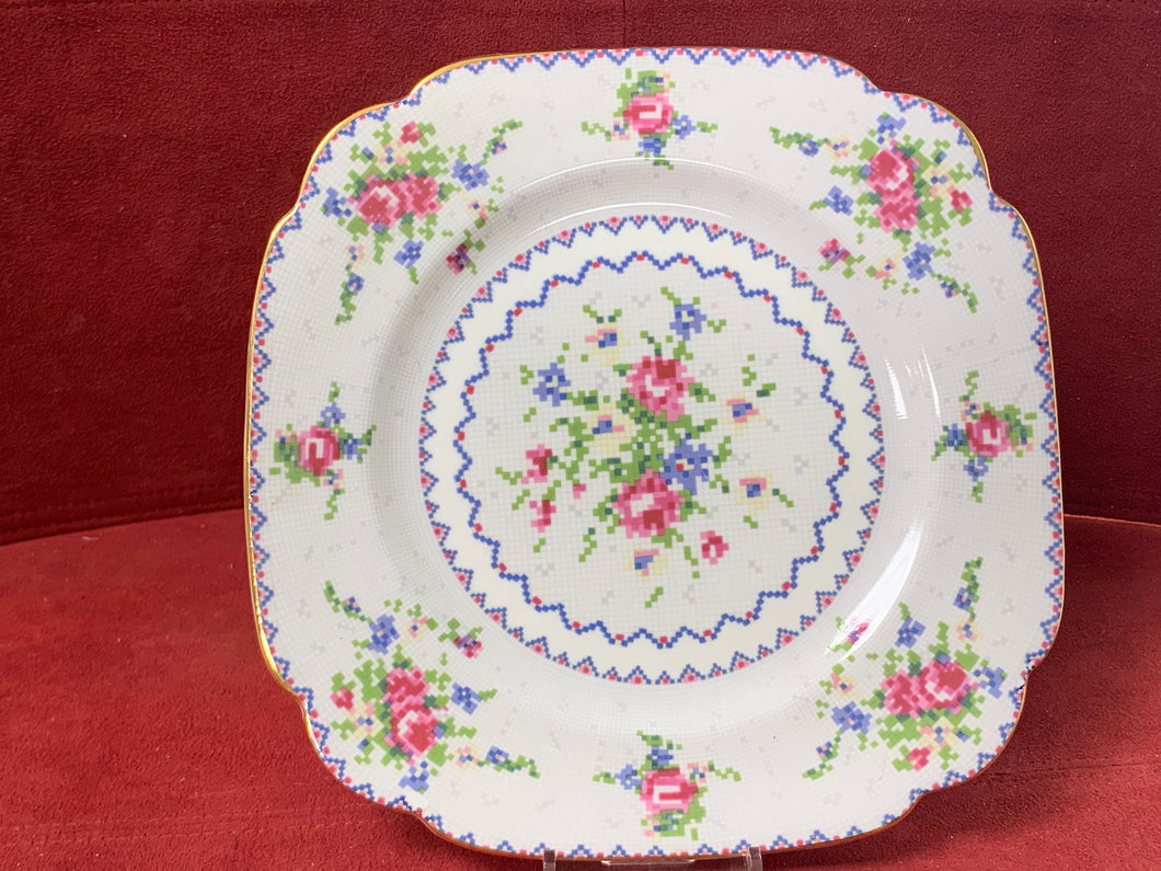 Royal Albert, Petit Point, Square Dinner Plate- 9-3/4""