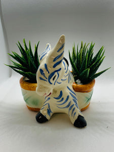 Planter. Japan. Little Striped donkey/zebra