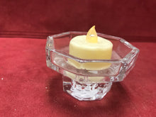 "Load image into Gallery viewer, Candle Holder, France, Crystal , 2"" high. Tealights or Tapers"