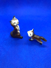 Load image into Gallery viewer, Japan. Miniature Figurines.  Foxes.  Hand Painted