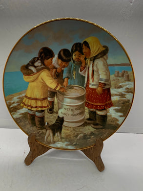 "Collector Plate.  Arctic Spring-""We Like It"", by Nori Peter.  9-1/2"""
