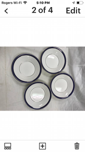 Firenze, Avalon, by Royal Worcester. England.  Set of 4 Fruit nappies
