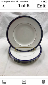 Firenze, Avalon, by Royal Worcester, England, set of 4 Luncheon Plates