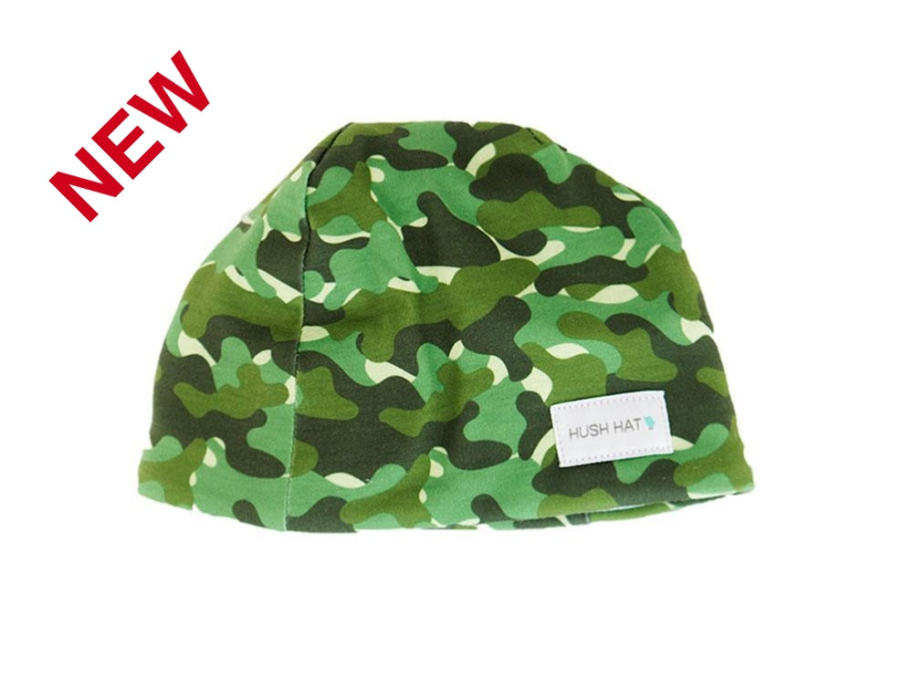 Hush Hat Camo Boy - Noise Reducing Design Baby Hats