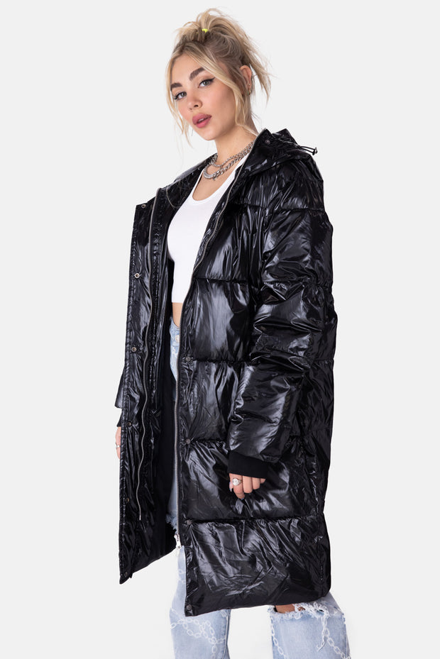 Dox Longline Hooded Puffer Coat