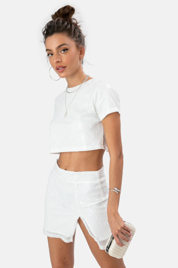 Laney Sequin Cut-Out Top