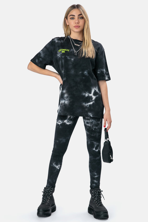 Tie-Dye LA Girl Leggings