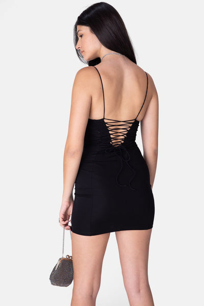 Davis Tie-Back Mini Dress