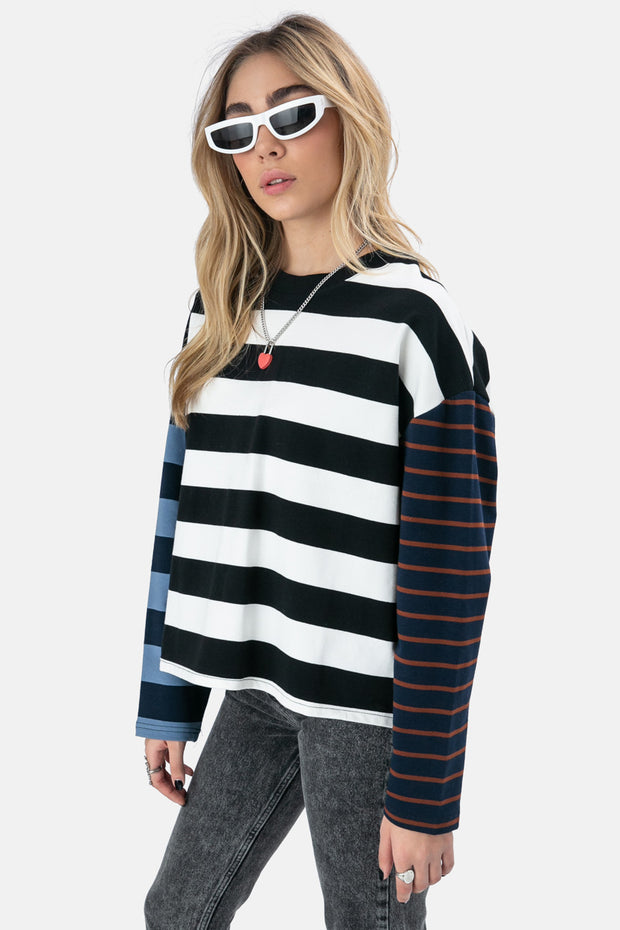 Helmut Striped Sweatshirt