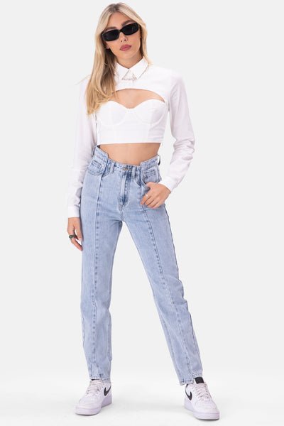Silivas Cupped Crop Top