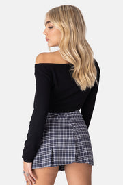 Fergus Cropped Ribbed Top