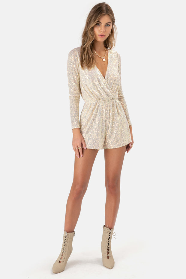Monique Sequinned Romper