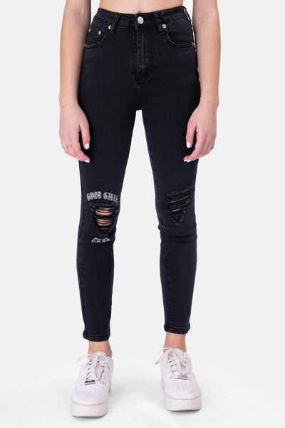 CLUB Ripped Skinny Jeans