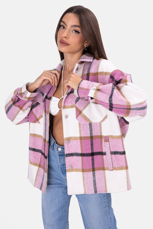 Forest Oversize Plaid Jacket