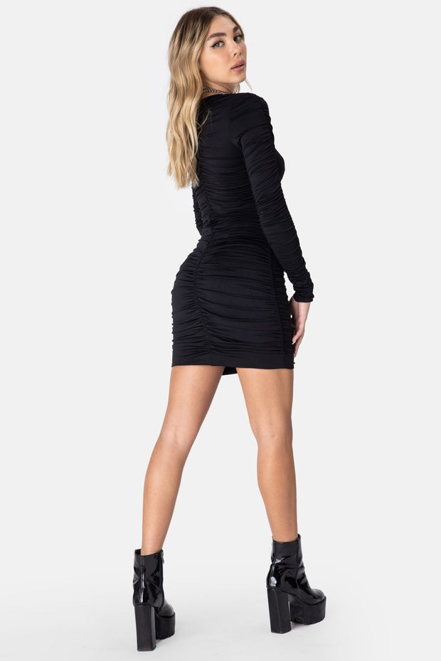 Crawford Ruched Mini Dress