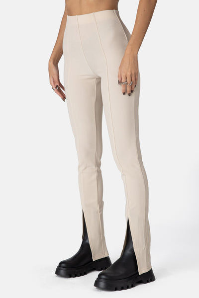 Luxe Front-Slit Pants