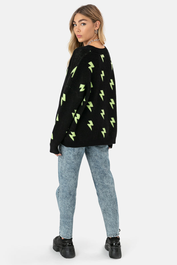 NEON LIGHTS Oversized Sweater