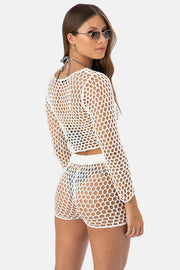 Balizo Crochet Crop Top