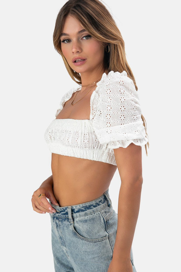 Raven Puff Sleeve Top