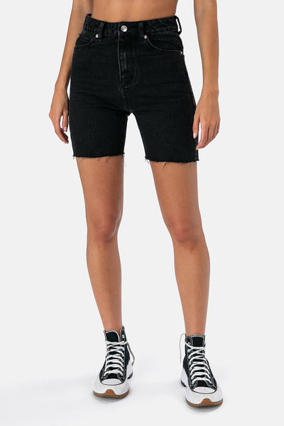Taylor Denim Biker Shorts