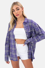 Slash Oversize Plaid Shirt