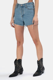 Teagan Frayed Denim Shorts