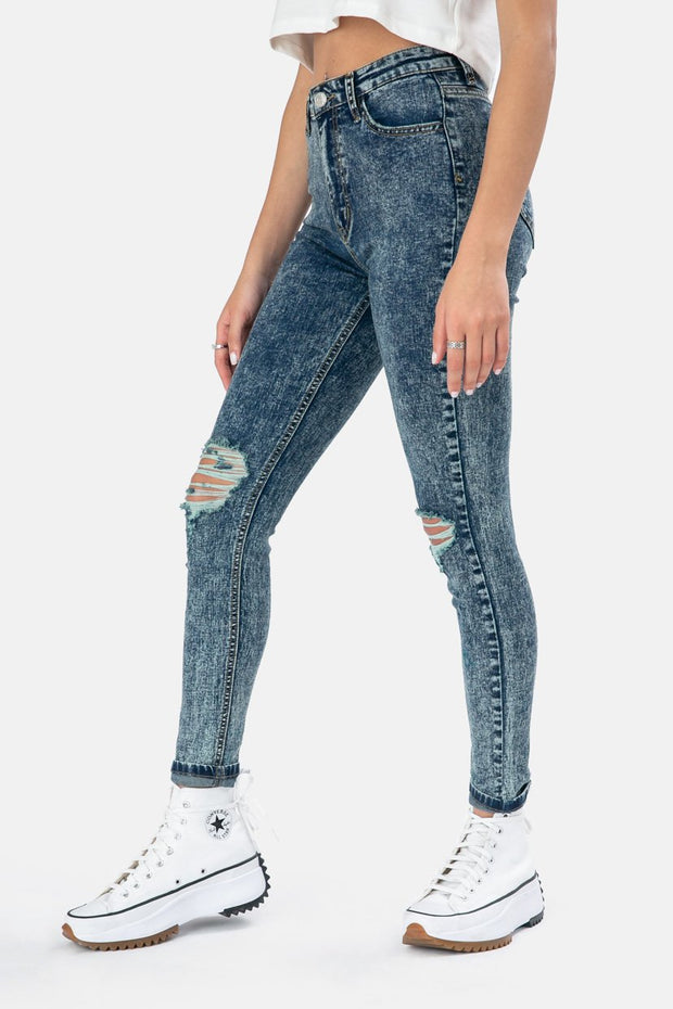 Morton Acid Wash Jeans | SKINNY