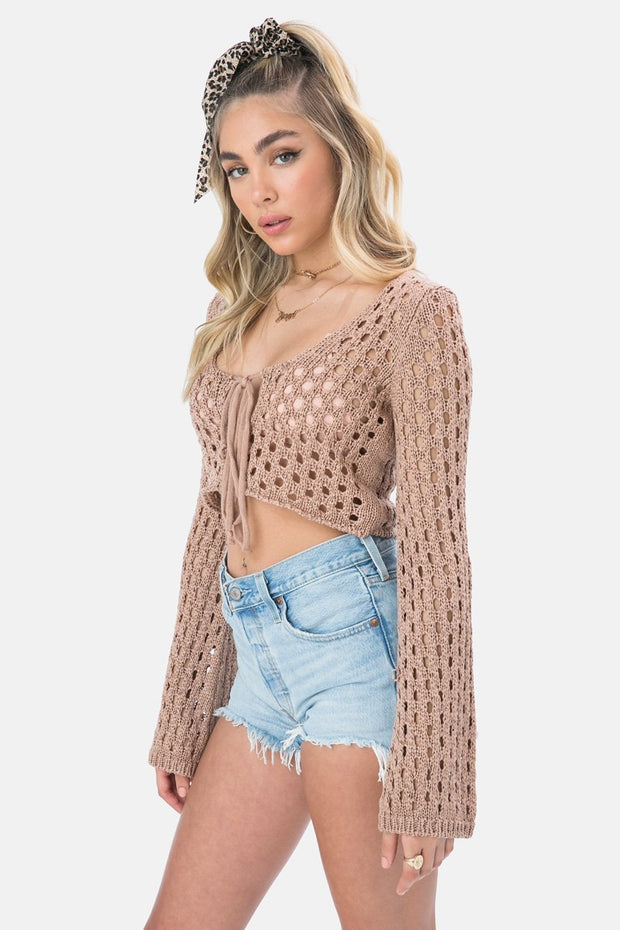Bordeaux Crochet Top