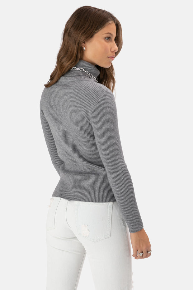 Jimmy Ribbed Turtleneck Knit