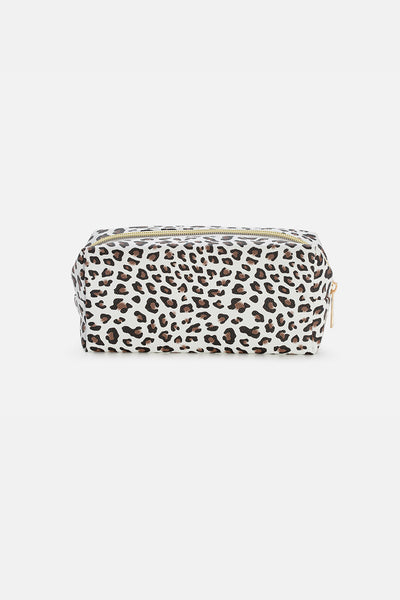 Spotty Leopard-Print Pencil Case