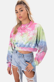 IRREPLACEABLE Tie-Dye Cropped Sweatshirt