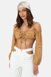 Lima Off Shoulder Crop Top