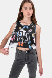 NUMBERS Cropped Tank Top