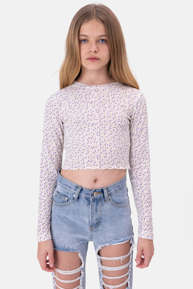 Lily Wavy Cropped Tee
