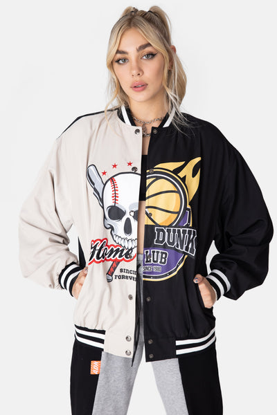 DUNK Color-Block Varsity Jacket