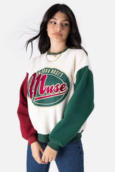 MUSE Color-Block Sweatshirt