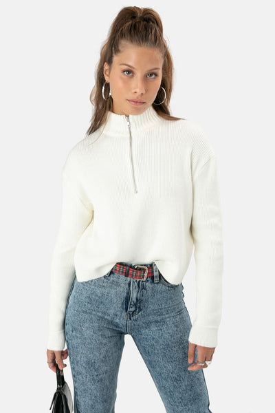 Laynor Zip-Up Sweater