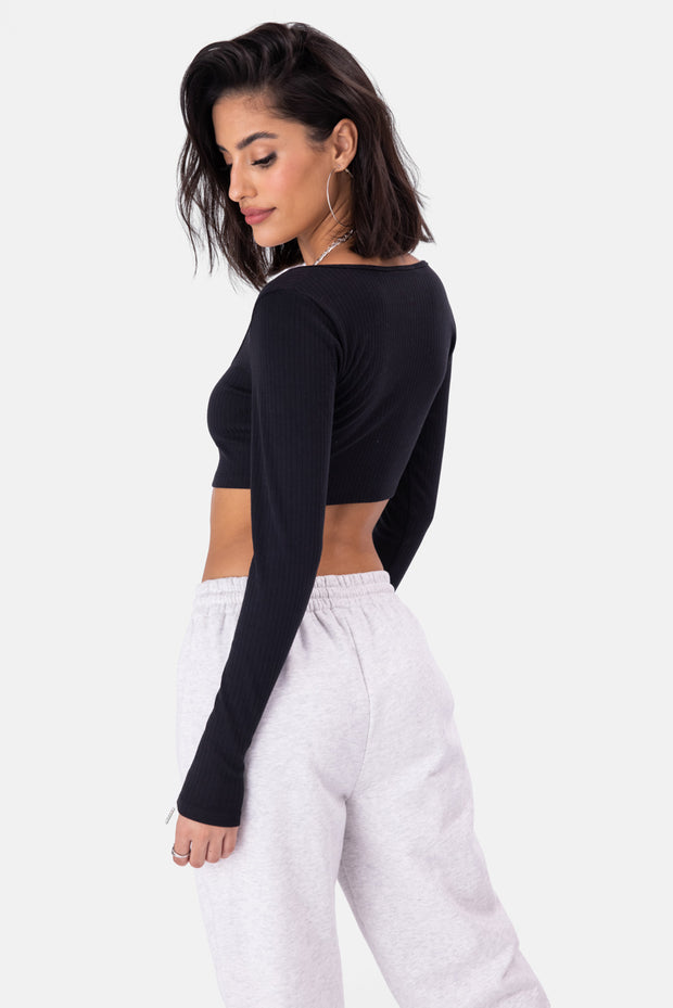 Clipperz Ribbed Crop Top