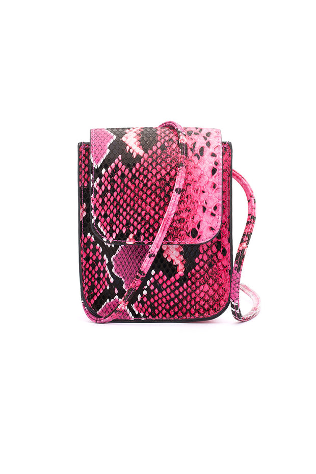 Snake It Faux Leather Bag