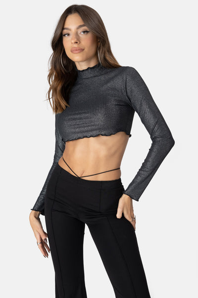 Bling Wavy Crop Top