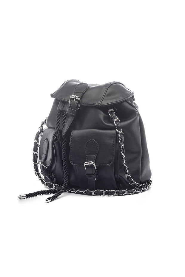 Baylos Faux Leather Backpack